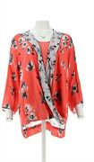 Tolani Collection Floral Printed Twist Front Woven Twinset Coral 2x New A347000
