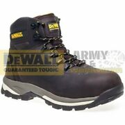 Dewalt Leather Mens Boots Full Safety Steel Toe And Midsole Protection Work Wear