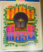 High Mass 1967 Vintage Blacklight Nos Theater Poster By Bob Fried 420 Weed N/m