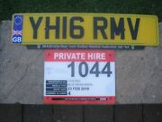 Great Britain Union Flag England Yh16 Rmv License Plate And Liverpool Taxi Plate
