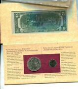 1993 Thomas Jefferson Coin And Currency Commemorative Set Bu 5083p