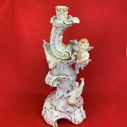 Helend Angel Candle Stand Rare Antique No Box