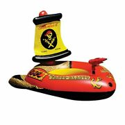 Swimming Ring Float Pirate Ship Inflatable Kids Pool Floats Boat Water Floating
