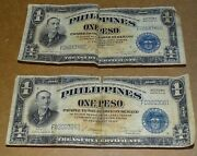 1940's Philippines 1 Peso Wwii United States Victory Banknote Paper Money 2