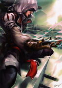 Kevin Yan Signed Xbox Play Station Art Print / Poster Assassins Creed