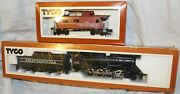 Tyco 638 Chattanooga Engine And Tender And 607 Caboose Train Ho Scale