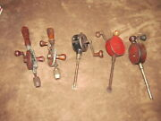 5 Fabulous Vintage Hand Drills And Valve Lapping Tools - 2 Duro 411 2 Eggbeaters
