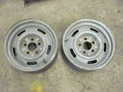 1972 72 Chevy Monte Carlo 15x7 Fw Rally Wheels Rims Dated Pair K-1-2-2-9-fw