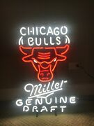 Chicago Bulls Miller Genuine Draft Neon Sign Local Pickup Only 60185