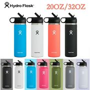 Hydro Flask Water Bottle Wide Mouth 32oz / 20oz / 40oz Straw Lid 2.0 New Design