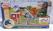 Thomas And Friends Wooden Railway Ccx59 Percy And The Little Goat Set - New