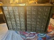 Vintage Antique Heavy Wooden Us Military Airplane Parts Apothecary Cabinet Trunk