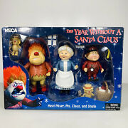 The Year Without A Santa Claus Neca Original Set Of Heat Miser Ms Claus And J