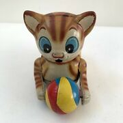 Cat Tin Toy Pusher Haji Made In Japan By M