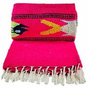Baja Trader Extra Large Authentic Native American Style Mexican Blanket Light...