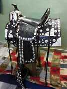 Western Handmade Magnifique Show Selle-cheval-ranch Cheval-selle 16-horse Tack