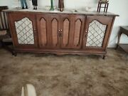 Vintage Credenza Grommes Stereo Receiver Garrard Type At6 Turntable Console