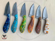 Lot Of 20 Custom Made Hunting/skinner Knife With Learther Sheath
