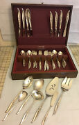 1847 Rogers Bros. Is International Silver Flair Silverware 53 Piece Set And Chest