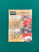 2012-13 Sp Authentic Sign Of The Times Two Iginla Nash Auto Canada R515