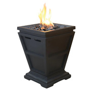 Uniflame Gas Fire Pit 11 In. X 11 In. Portable 360 Fire View Adjustable Flame