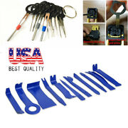 22pcs Car Radio Audio Stereo Panel Tool And Wiring Crimp Connector Pin Kit Blue