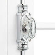 Signature Hardware 916670 Beaded Solid Brass Cremone Bolt For 9'