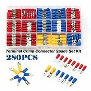 Wire Crimp Connectors Terminal Butt Ring Waterproof Plier Spade Assorted Kit