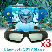 3x 3d Active Glasses Bt Rf Work For Epson 3lcd Projector Samsung Panasonic 3d Tv
