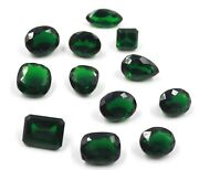 Discounted Sale 250-270 Ct Certified Mix Cut Green Moldavite For Ring Gems Lot