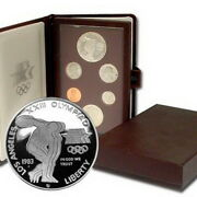 1983-s Us United States Prestige Proof Coins Set Olympics Disc Thrower