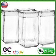 Anchor Hocking 2-quart Stackable Jars With Glass Lids Set Of 4 Clear