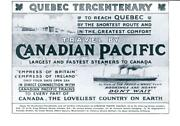 1908 Advertising Canadian Pacific Railway Steamers Quebec Tercentenary 03