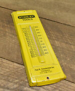 L1242- Rare Vintage Metal Stanley Tools Thermometer Sign 14