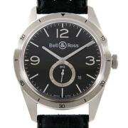 Bell And Ross Brv123-bs-st/sf Vintage Br123 Black Silver Automatic Winding