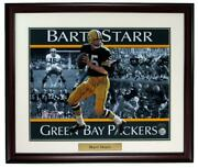 Bart Starr Hof Green Bay Packers Signed/auto 16x20 Photo Framed Tristar 161831