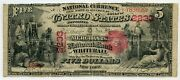 Fr. 404 1875 5 Ch 2233 National Bank Note Whitehall New York Gr 12