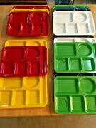 Vintage Lot Of 14 Divided 6 Slot Lunch Trays - Cafeteria - Durable - Texas Ware