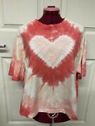 Electric And Rose 100 Cotton Tee White/pink Tie Dye - Nwt - Size M