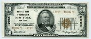 Fr. 1803-2 1929 Ty.2 50 Ch 12965 National Bank Note New York New York Gr 40