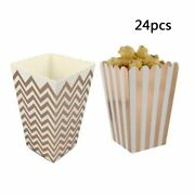Paperboard Popcorn Food Snack Gift Boxes Parties Accessories And Cinema Supplies