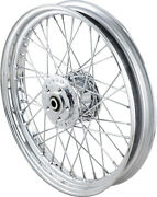 Drag Specialties Wheel - Front - Chrome - Dual Disc - 19x2.50 - No Abs -