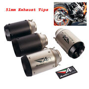 2and039and039 Short Motorcycle Exhaust Tip Escape Muffler Pipe Dirt Bike Carbon Fiber 51mm