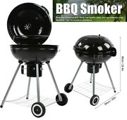 22in Portable Grill Bbq Smoker Charcoal Stove Outdoor Camping Patio Barbeque