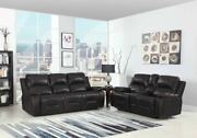 89 X 40 X 40 Modern Brown Leather Sofa And Loveseat