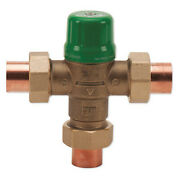 Taco 5123-c2 Mixing Valve, Forged Brass, 1 To 14 Gpm