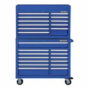 Westward 7cy36 42w Tool Chest And Cabinet Combination 24 Drawers Blue