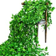 Green Artificial Hanging Leaf Decoration Home Wedding Party Garden Decor Leaves