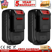 2pack 3.8ah Nicd Battery For Porter Cable 18v Tools Pc18b Pc18bl Pcc489n Pcmvc