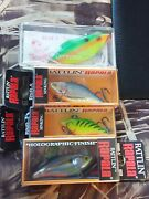 Lot 4 Rapala Rattlinand039 Rap Rnr-5 Bill Lewis Rat-l-trap Collection Holographic